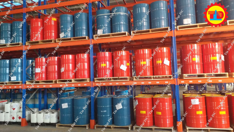 Dự án kệ chứa thùng phuy của Tín Đạt JSC