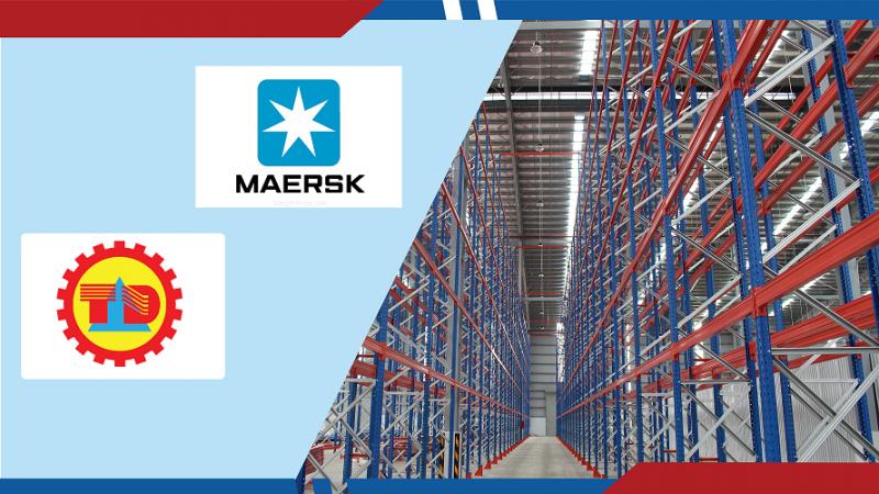 Dự án kệ kho ở nhà kho Maersk Logistic Việt Nam